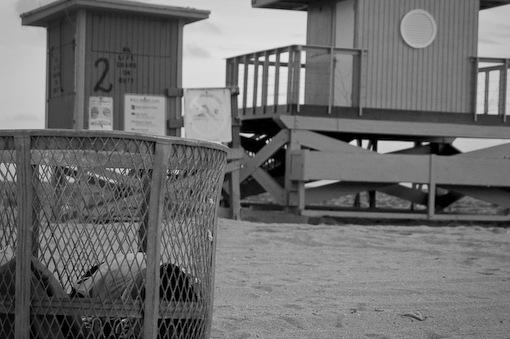 Dark day at the beach