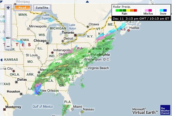 Odd Weather Map